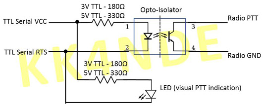 simple radio ptt to computer interface circuits images